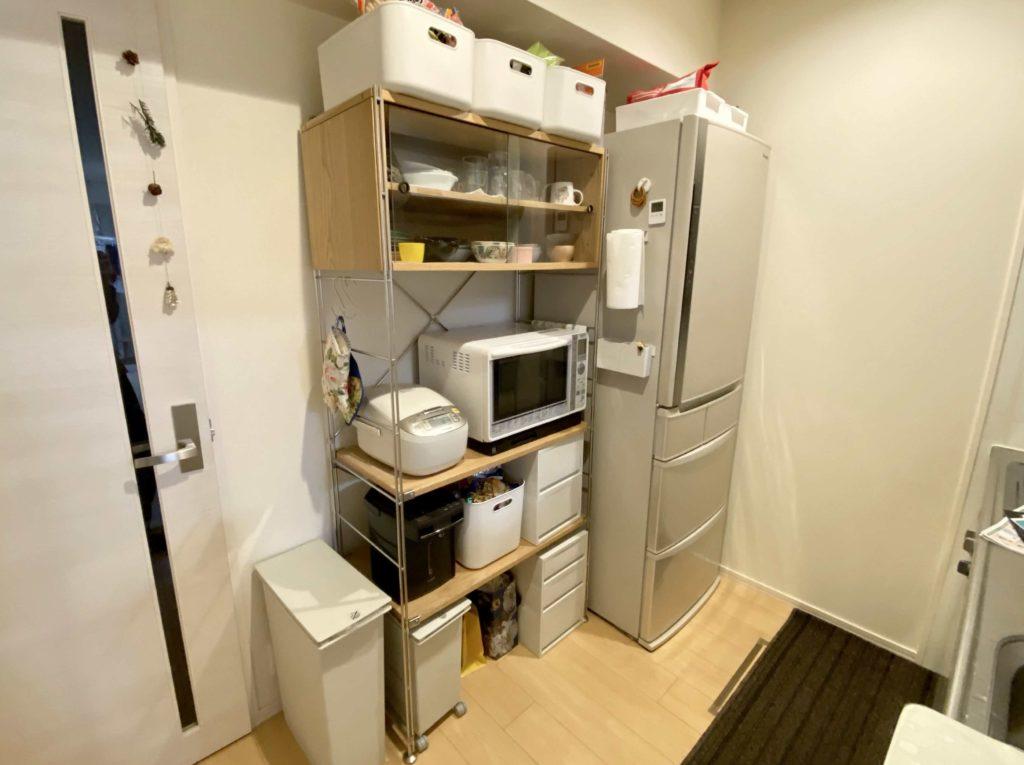 無印良品のユニットシェルフ食器棚の事例