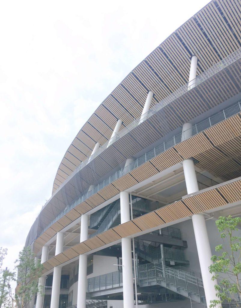 オリンピックパークの近くにはオリンピックスタジアム(新国立競技場)もある