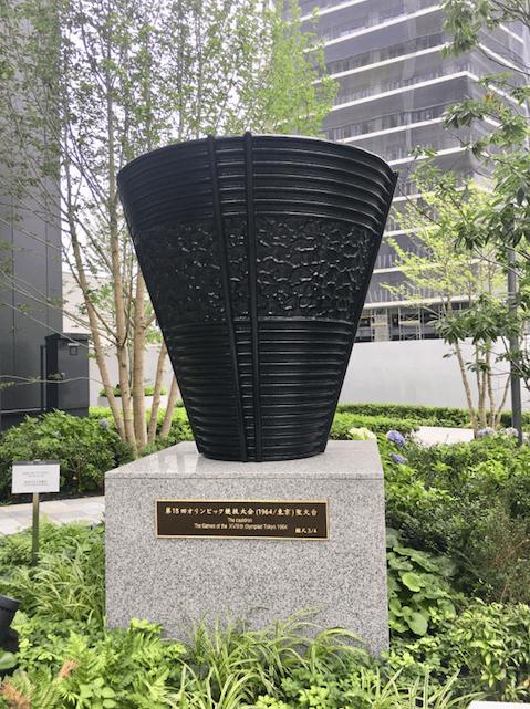 東京オリンピックパークにある東京五輪モニュメント