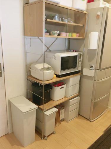 無印良品ユニットシェルフ食器棚