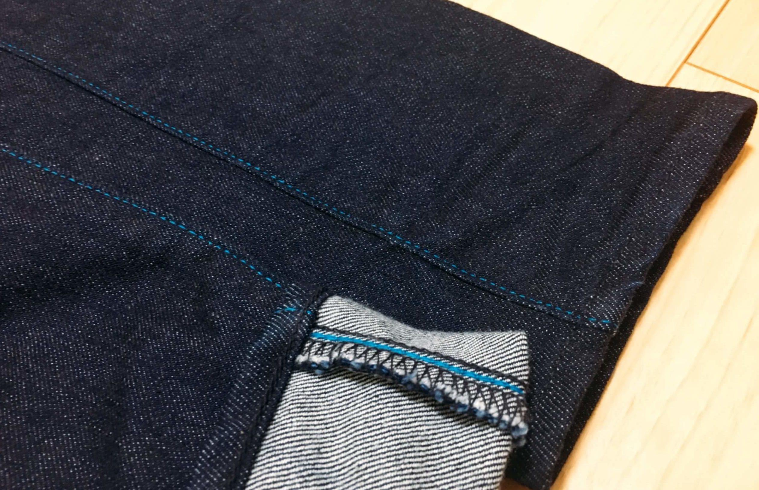 ジャパンブルージーンズのインシームの糸