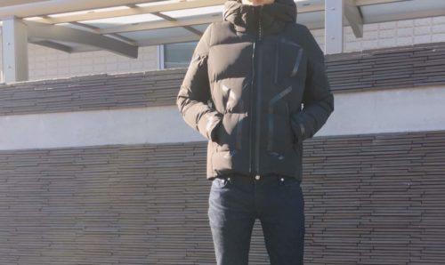 水沢ダウンを着た写真