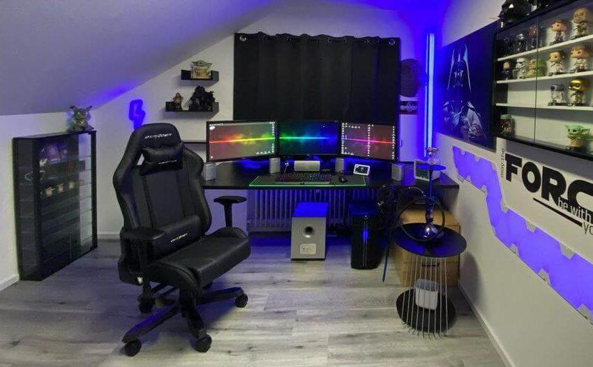 ゲーム部屋のドリフティングDX-03ゲーミングチェア