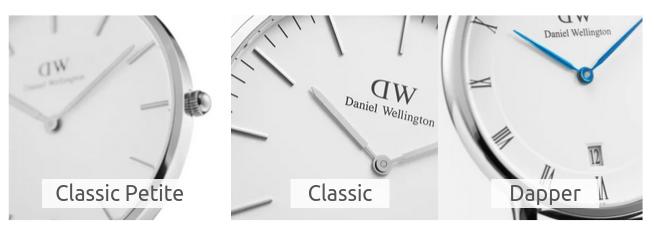 メンズ腕時計ダニエルウェリントンの文字盤の違い