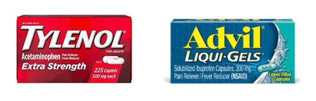 タイレノールとアドビルは海外市販薬として主流