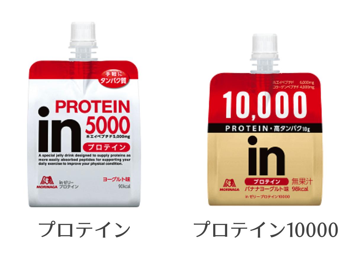 inゼリーのプロテイン製品のパッケージ