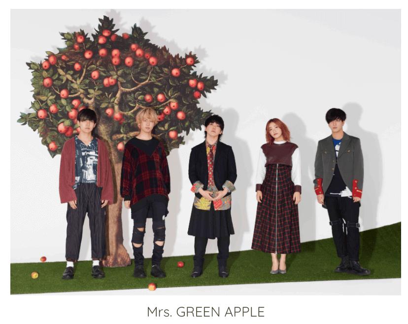 ミセスグリーンアップルのメンバー5人