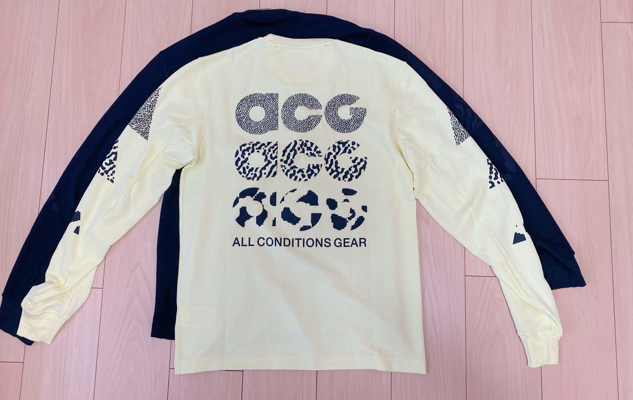 ナイキACGのTシャツのバックプリント