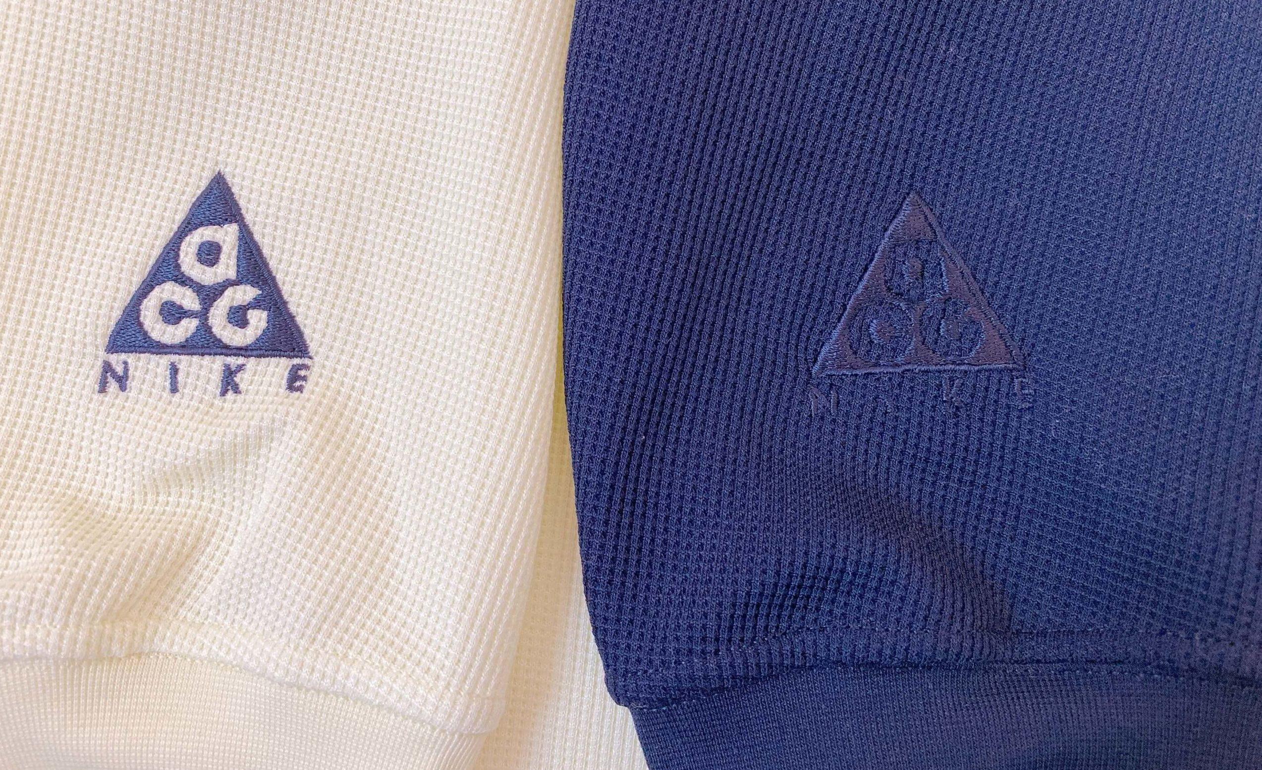 ナイキACGのロゴの刺繍
