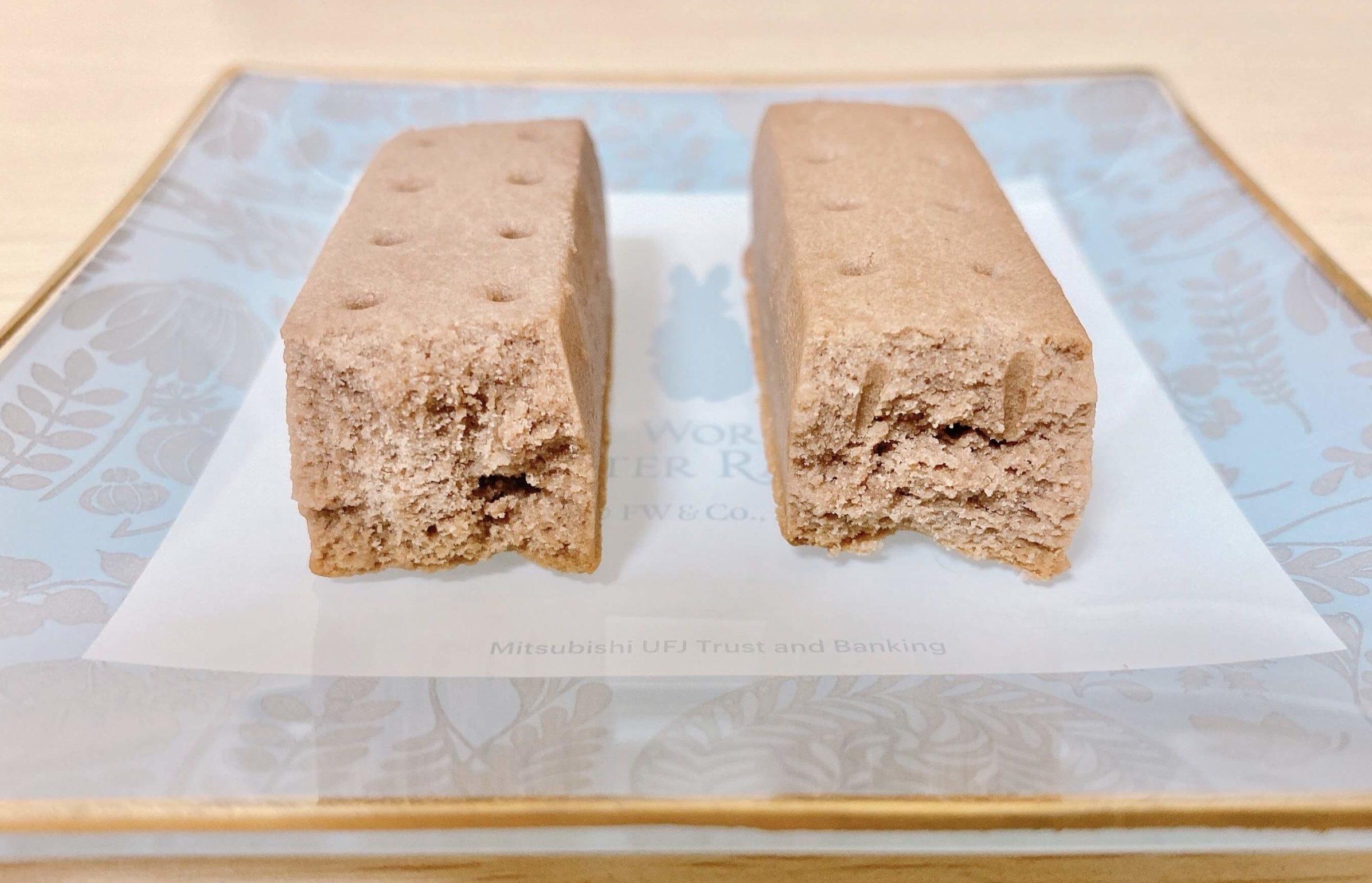 非常食・保存食のカロリーメイトロングライフの断面写真