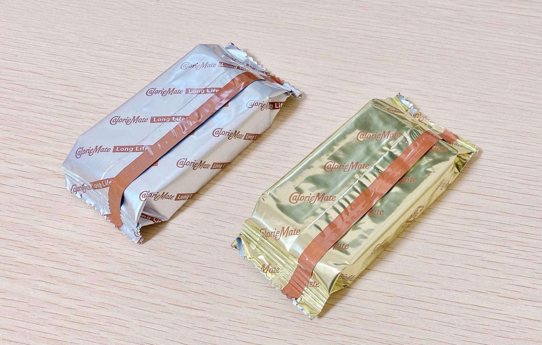 カロリーメイトロングライフのアルミ包装