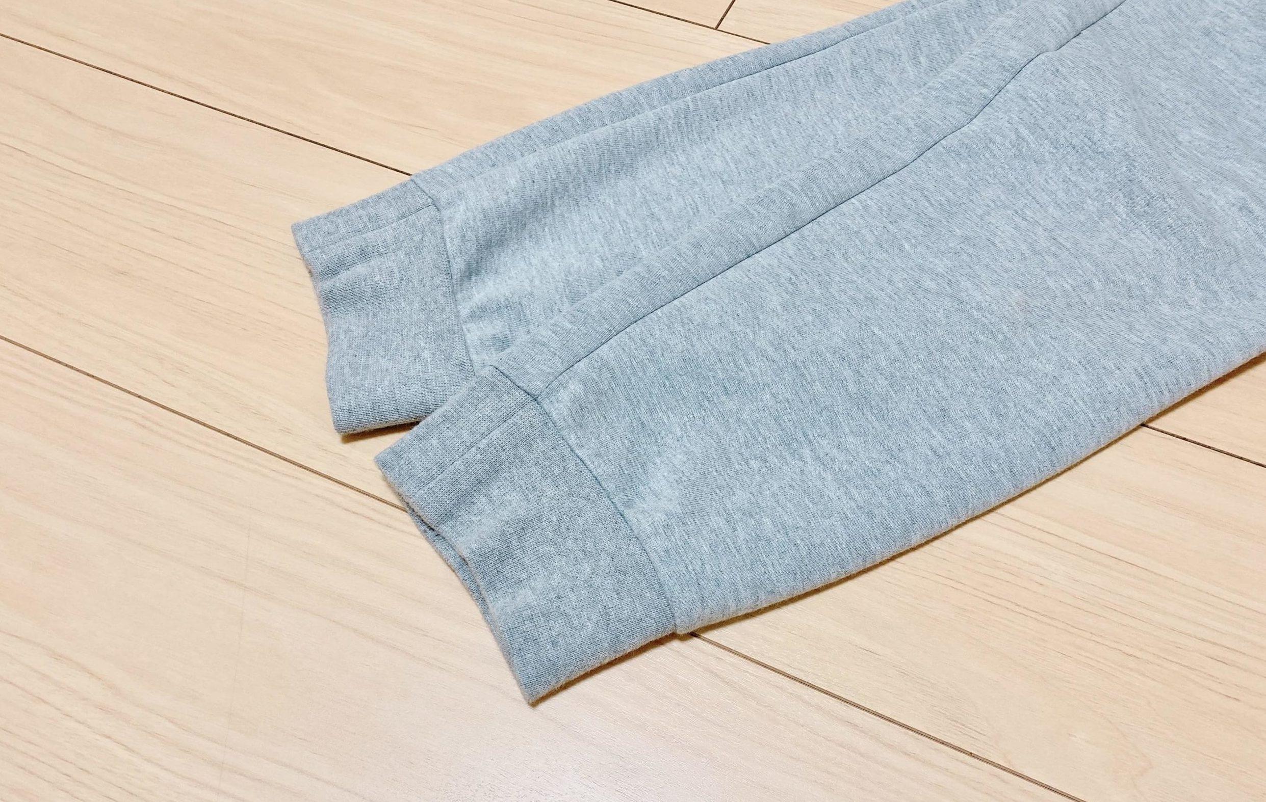 テックフリースジョガーパンツの裾のリブ部分