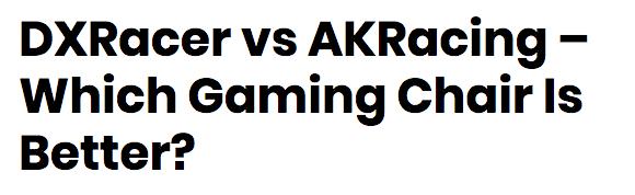 海外でもAKRACINGとDXRACERの優劣はついていない