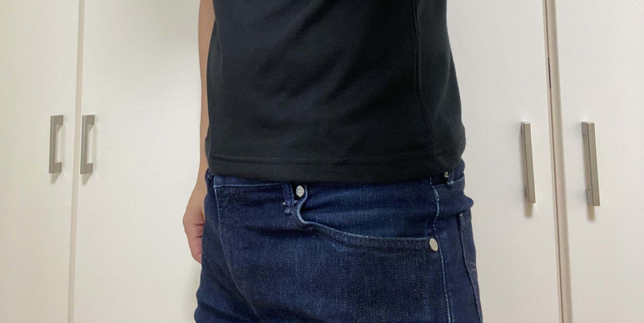 メンズファッションプラスのTシャツのサイズが小さいので返品交換