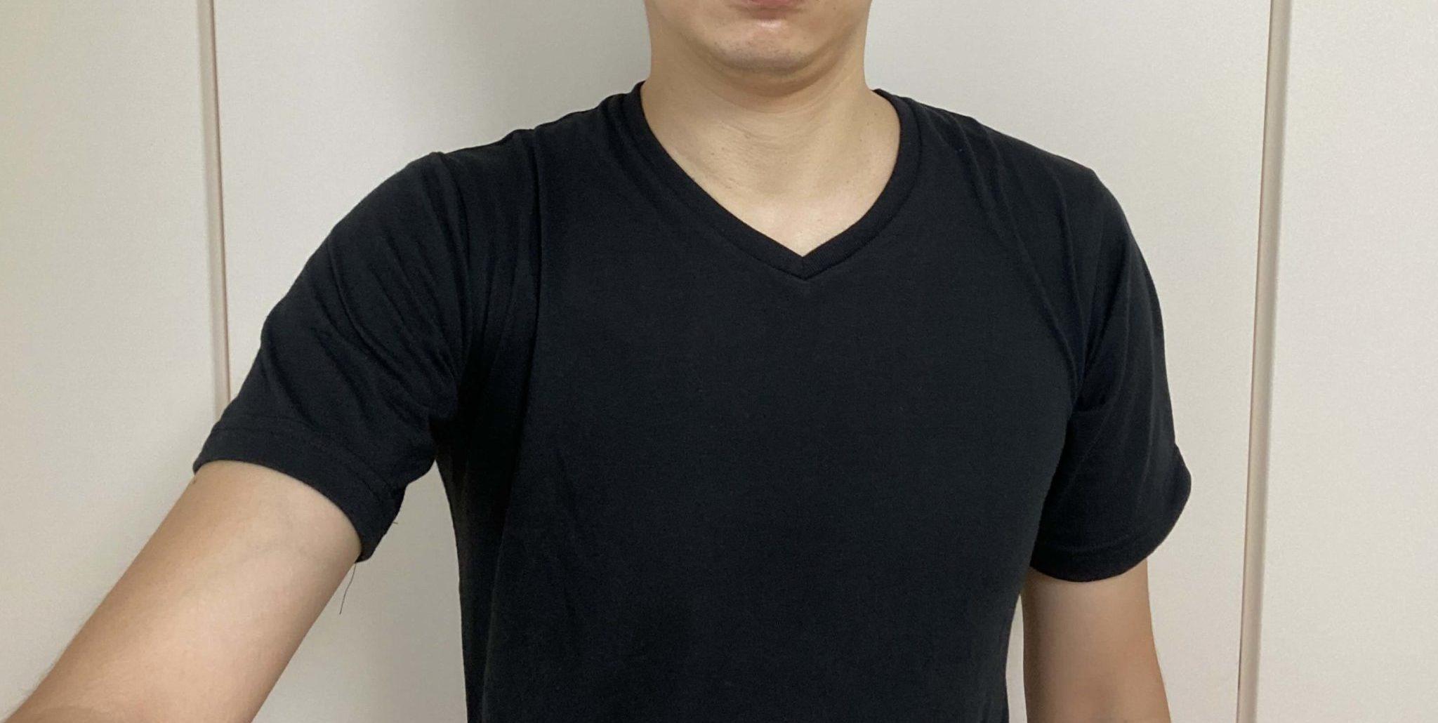 メンズファッションプラスのTシャツを試着