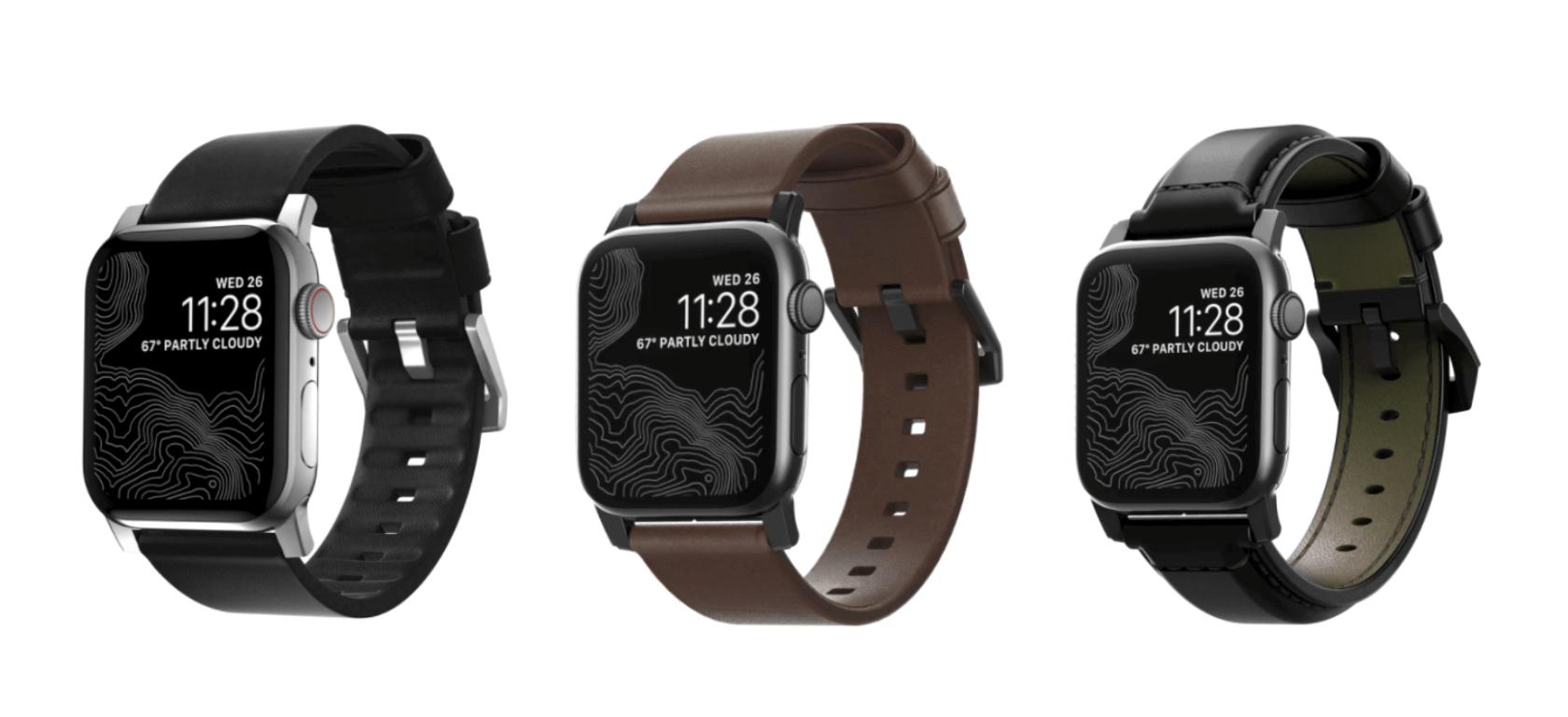 ビジネスに合うApple WatchのNOMADののレザーバンド