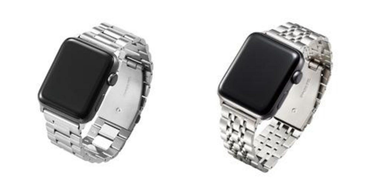 ビジネスに合うApple Watchの金属バンドの5連と7連のタイプ