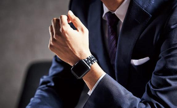 ビジネススーツに合わせたApple Watch