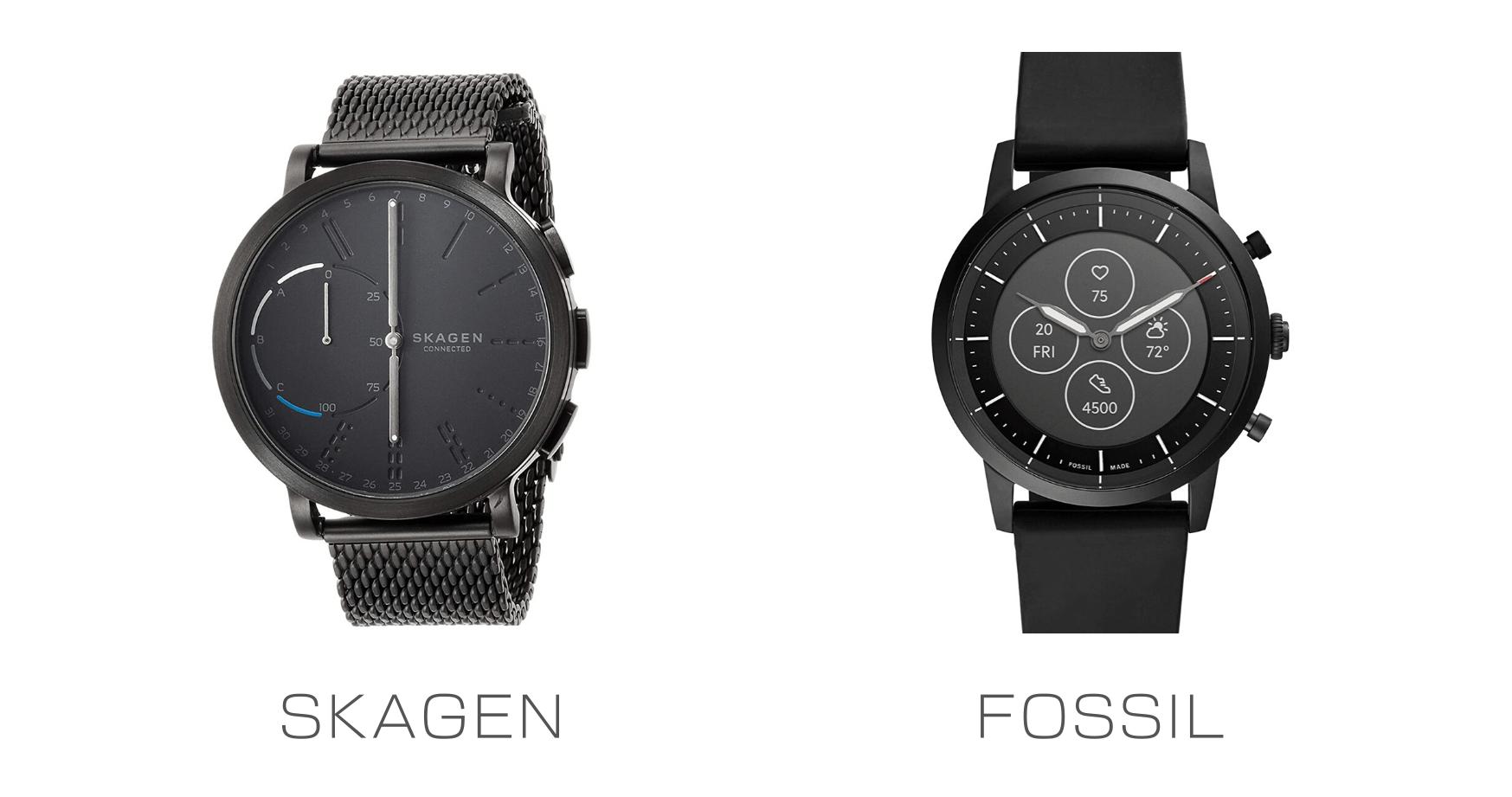 欧米のSKAGENとFOSSILのスマートウォッチを比較