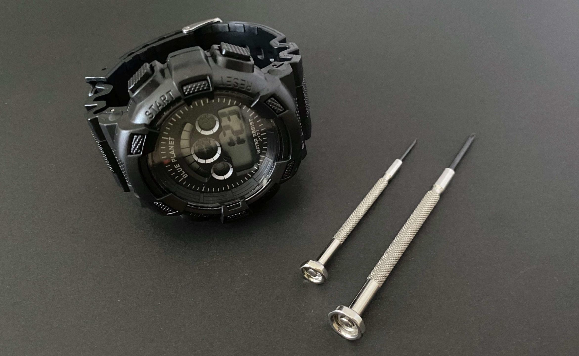 CR2032を電池交換したダイソー腕時計