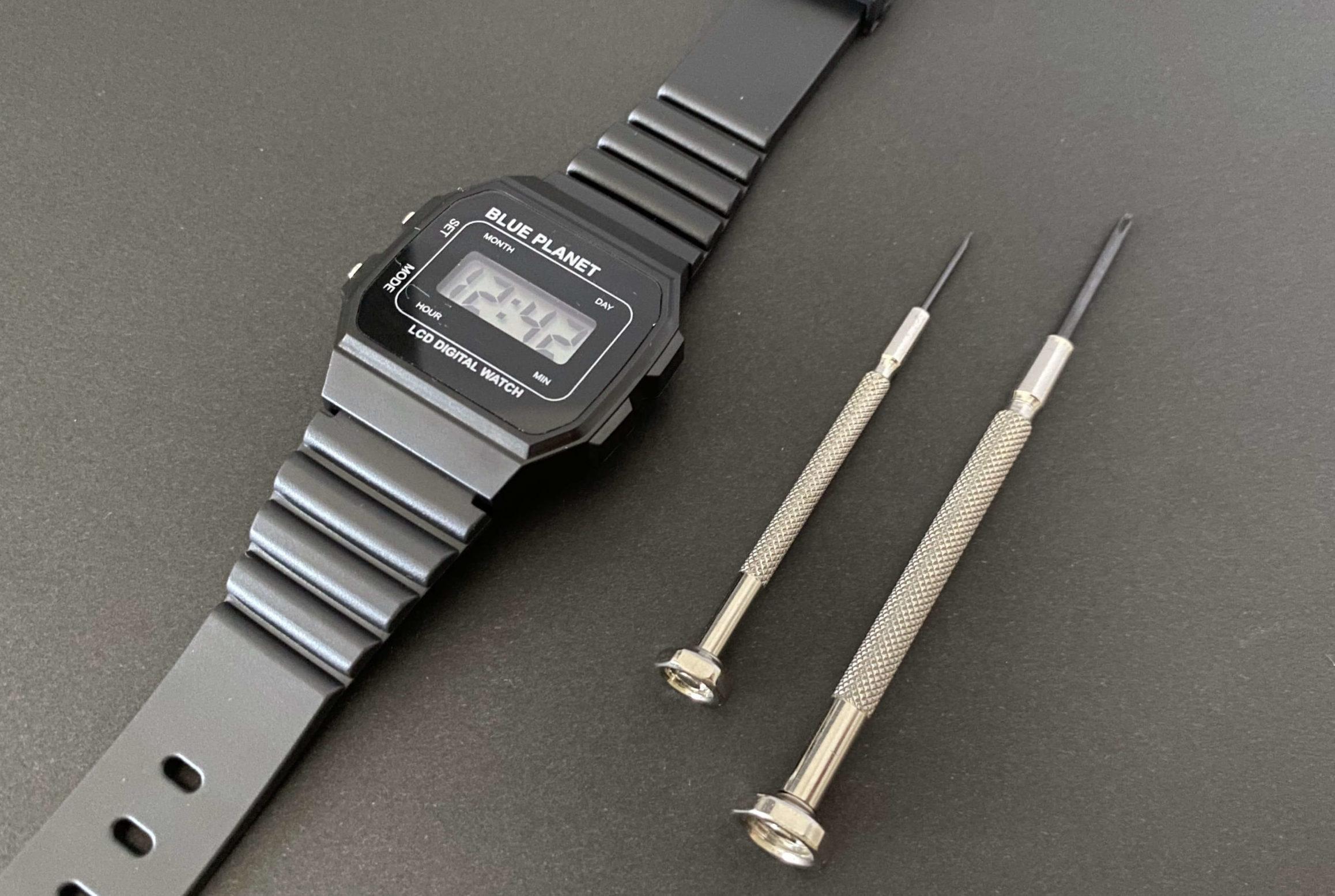LR41を電池交換されたダイソー腕時計