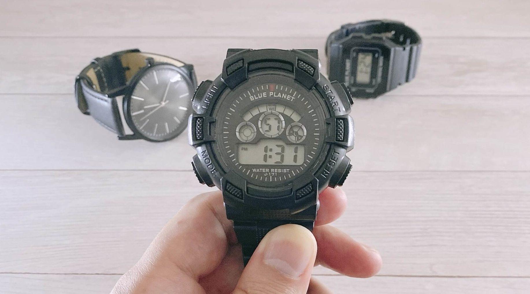ダイソー腕時計ブループラネットGの外観