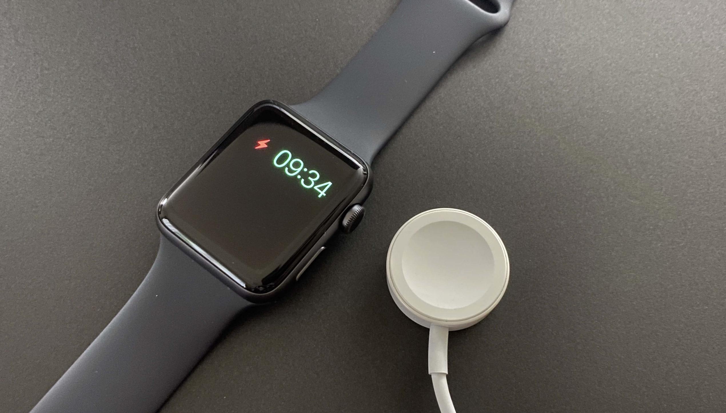 無駄とも思われるApple Watchの頻回の充電