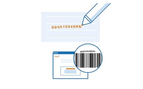 Amazonファッションの返品でコードを手書き