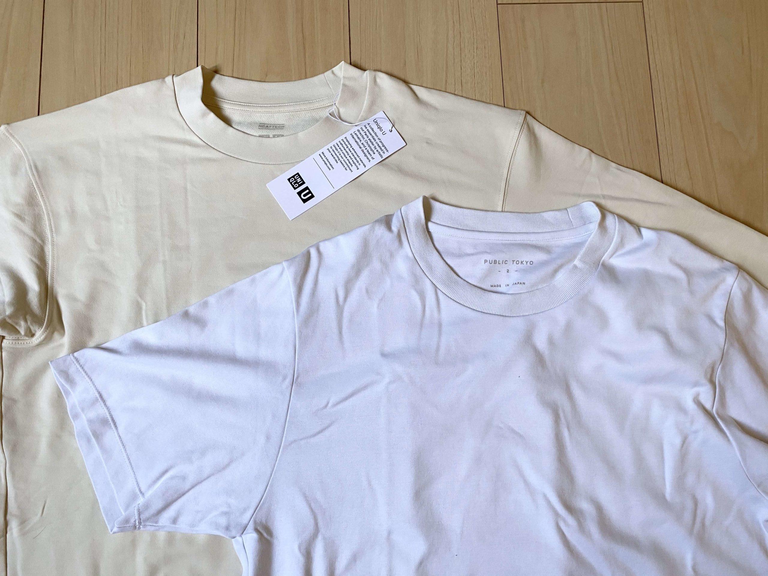 Uniqlo Uヒートテックを綿100%Tシャツと比較