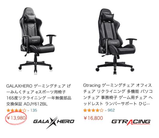 GALAXHEROとGTRACINGをコスパで比較