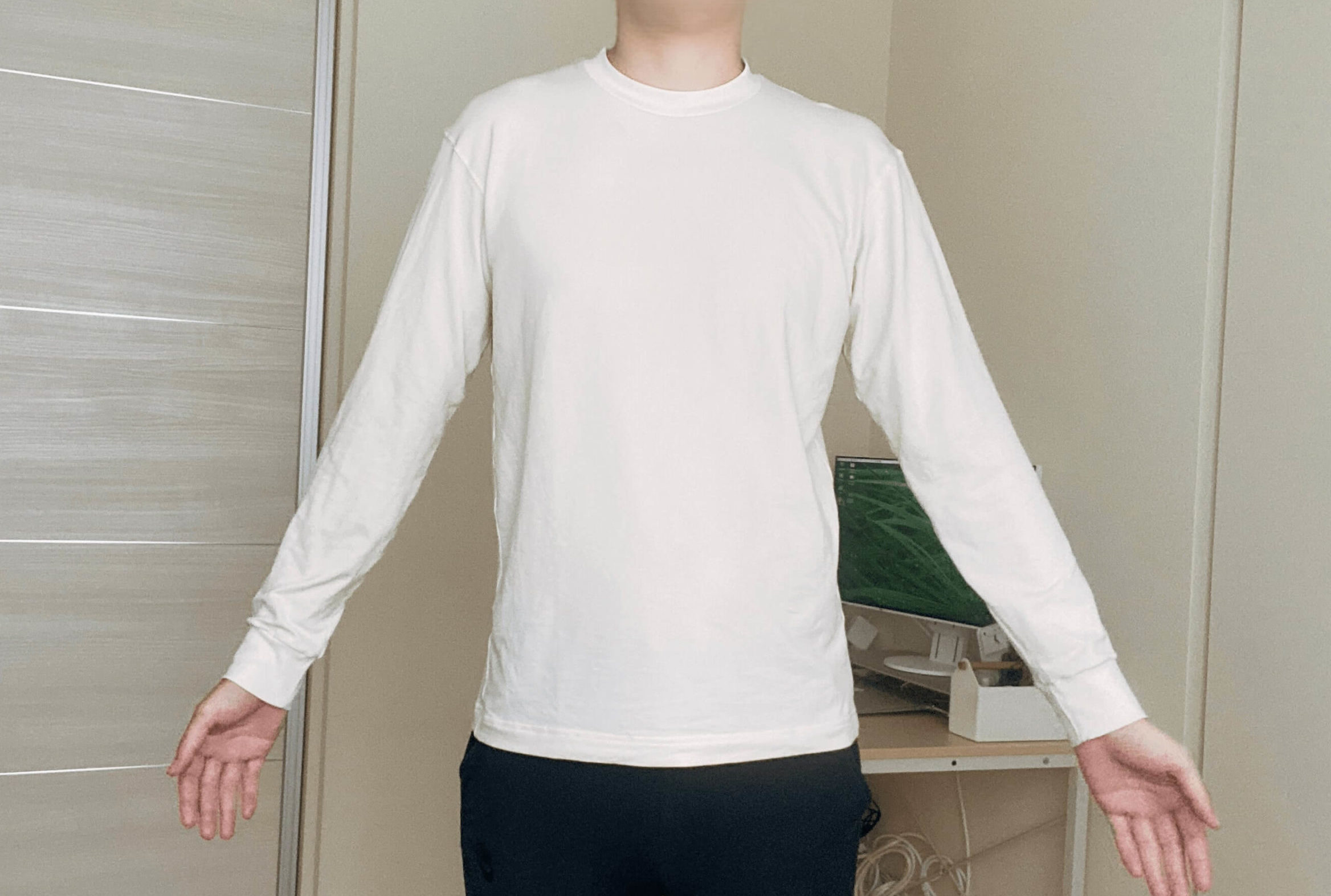 Uniqlo Uヒートテックの袖と丈