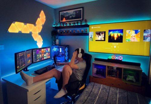 おしゃれなゲーム部屋のレイアウトとデスク周りを解説