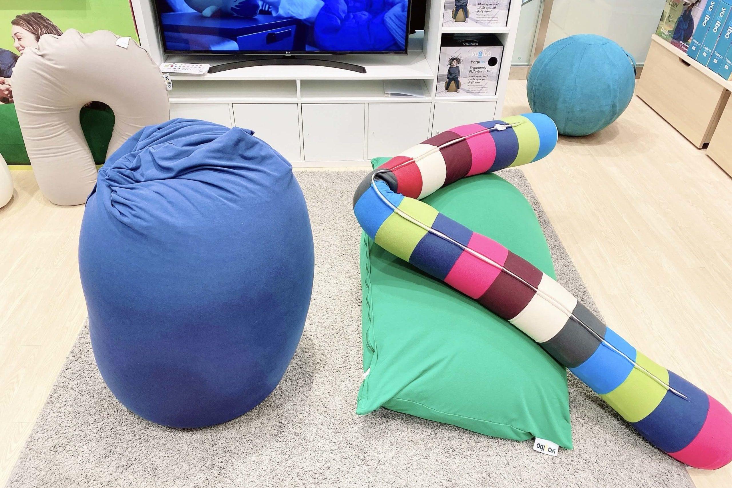 ヨギボー店舗のソファとリラックスオプション