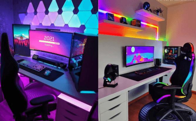 ゲーム部屋のゲーミングチェアの事例