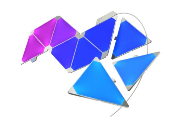 ゲーム部屋の照明ライトで人気のnanaoleaf triangles