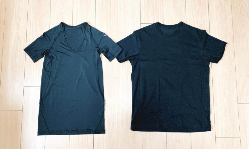 ユニクロの加圧シャツとTシャツの比較