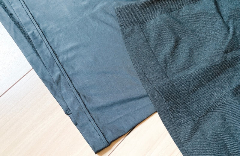 ユニクロの加圧シャツと一般的な製品の比較