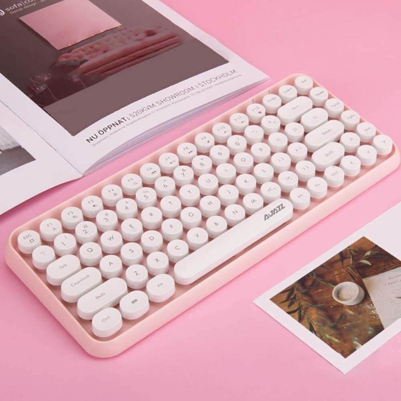 キーが丸い可愛いキーボード