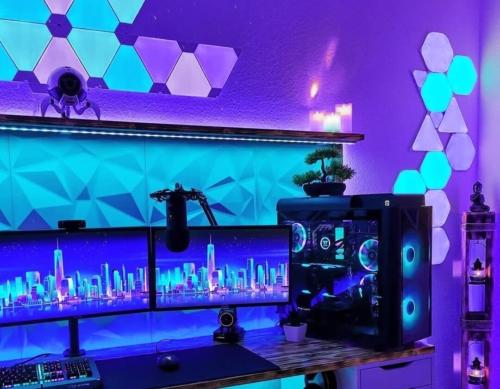 ゲーム部屋の照明・ライト