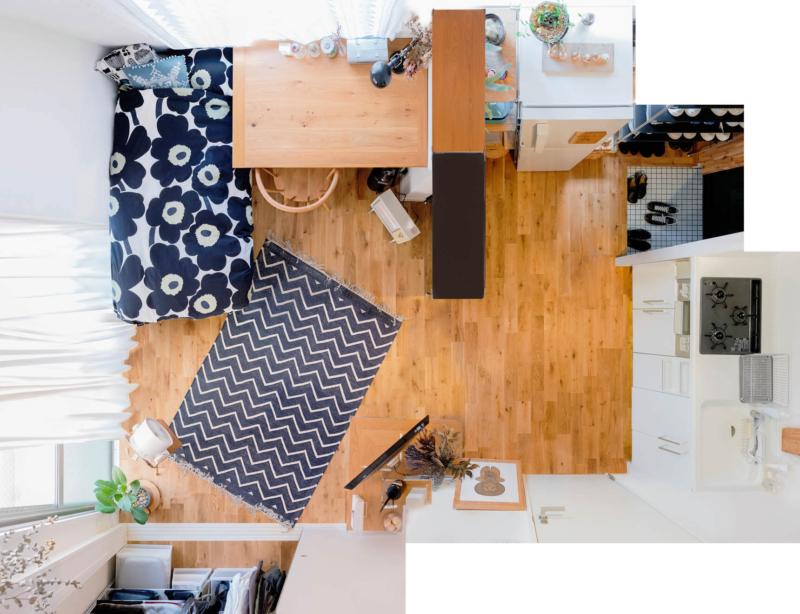 ワンルーム一人暮らしゲーム部屋の9畳のレイアウト
