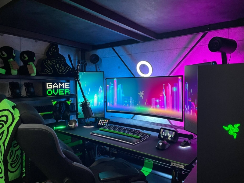 狭いワンルームひとり暮らしのゲーム部屋