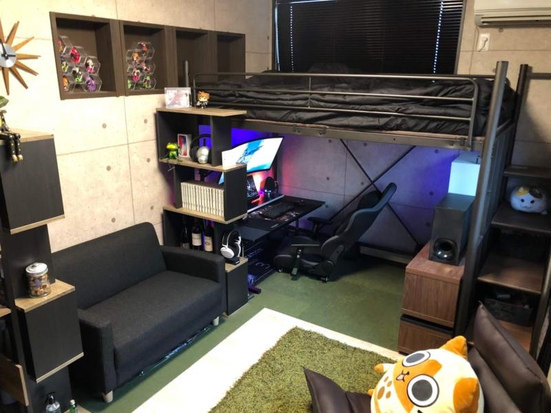 ロフトを使ったゲーム部屋