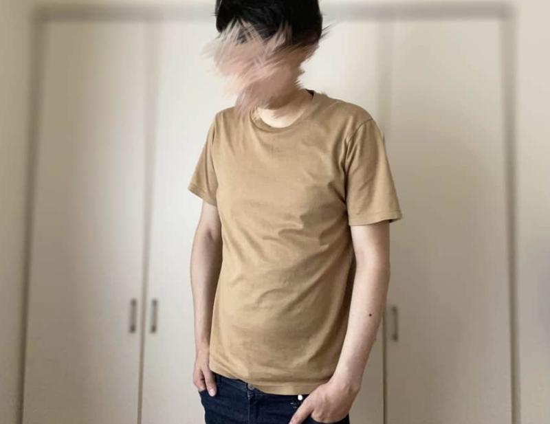 Tシャツの下にSASUKE加圧シャツを着用