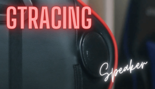 GT890のスピーカー付きGTRACINGゲーミングチェア