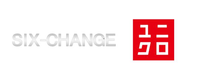 シックスチェンジとユニクロのロゴ