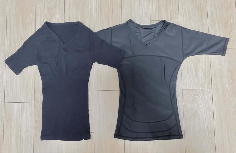 シックスチェンジとSASUKEの加圧シャツの比較