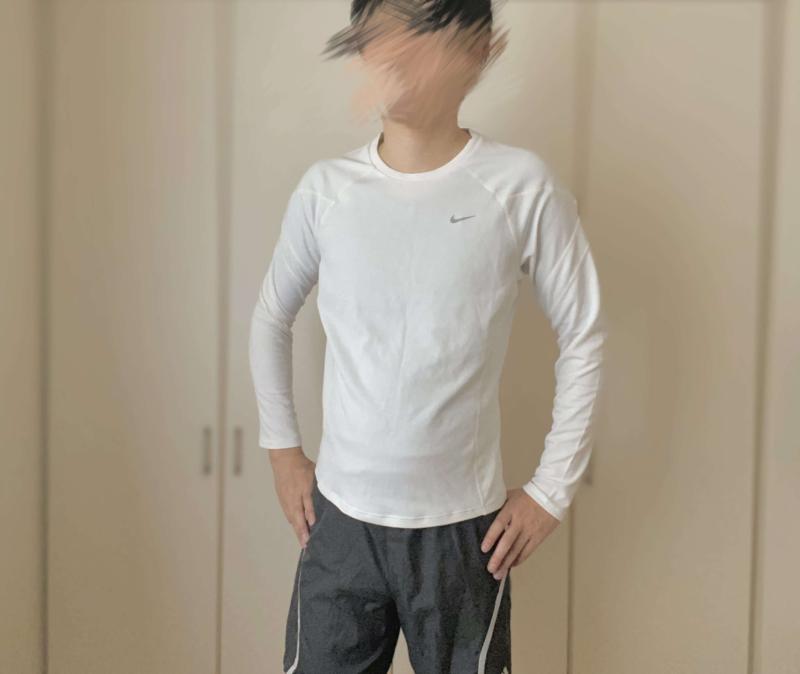 シックスチェンジの加圧シャツでランニング