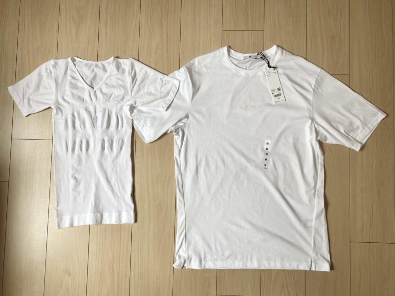 おすすめの白色の加圧シャツ