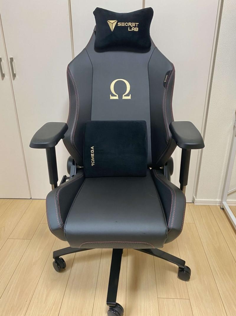 Secretlab Omegaのヘッドレストとランバーサポート