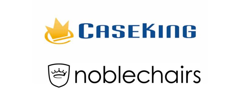 noblechairsとcasekingのロゴ